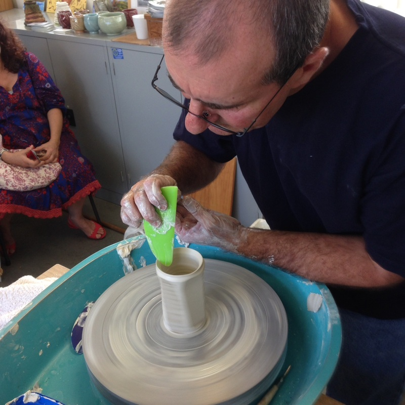 Presentation on Platters making by Robert Linigen, St Marys Corner Arts and Craft Studios, April 2014.