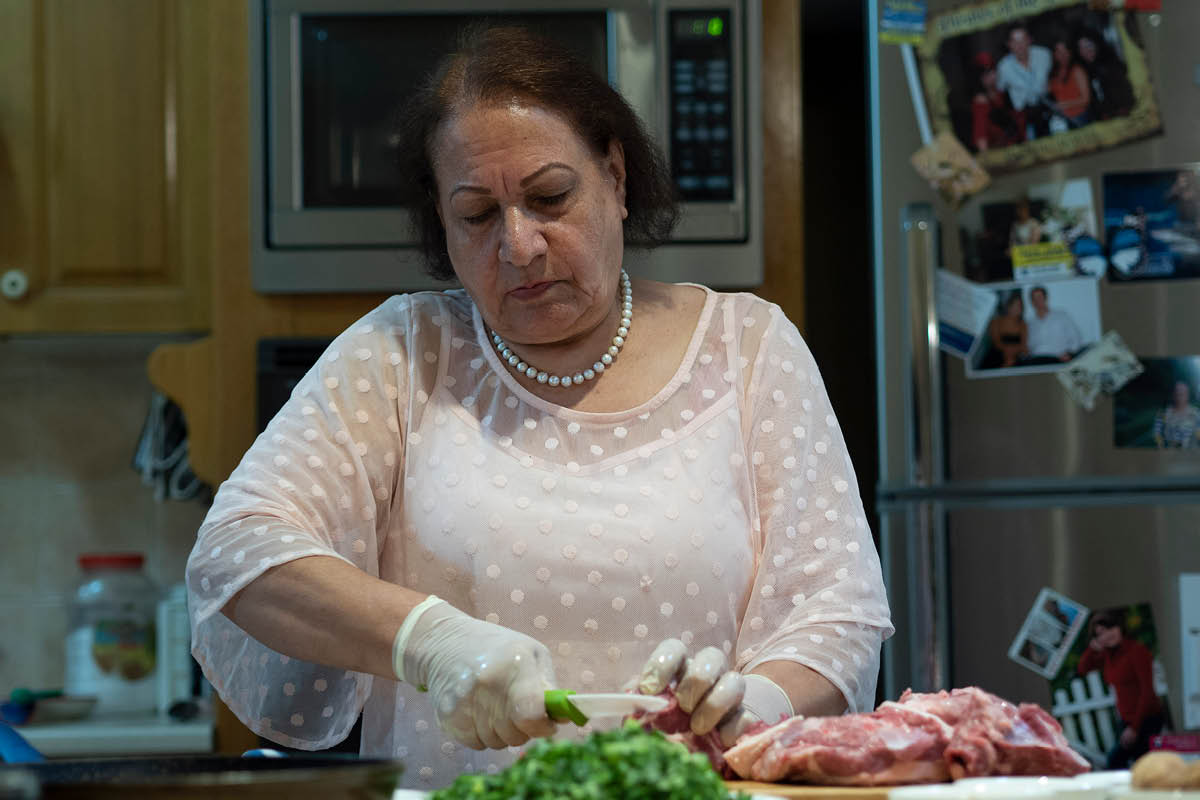 Iranian lady cooking