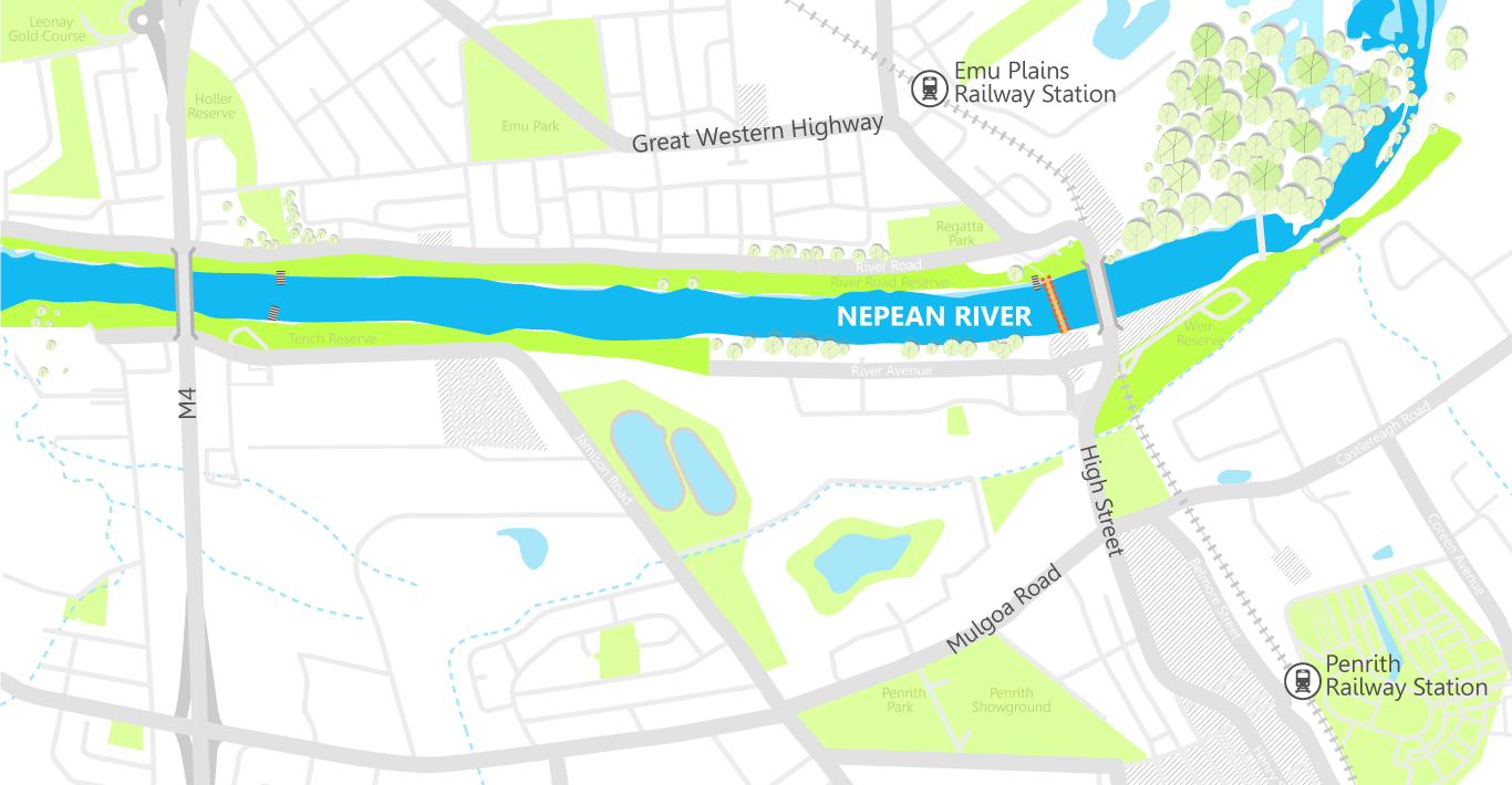 Great River Walk Map